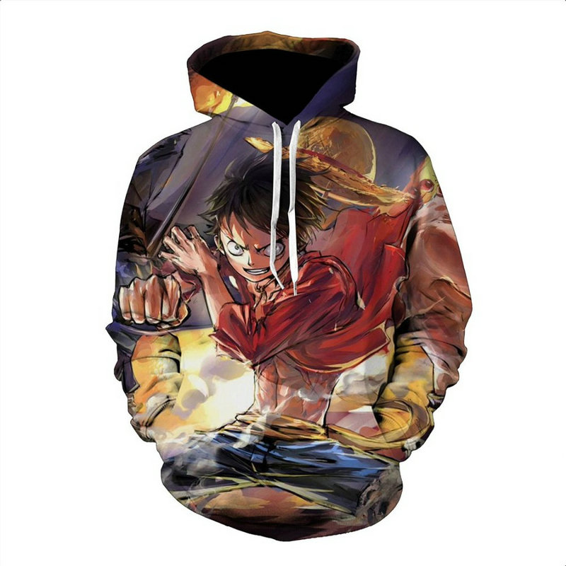 Women Japanese Anime Hooded Sweatshirts Spring Outerwear Unisex Monkey D Luffy Polluver 3xs-5xl To Ensure Smooth Transmission 2019 One Piece 3d Hoodies Men Men's Clothing