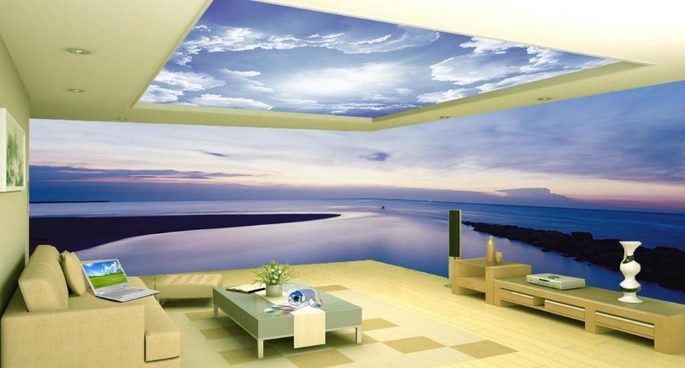 Custom 3d Wallpaper Calm Sunset Lake Large Mural