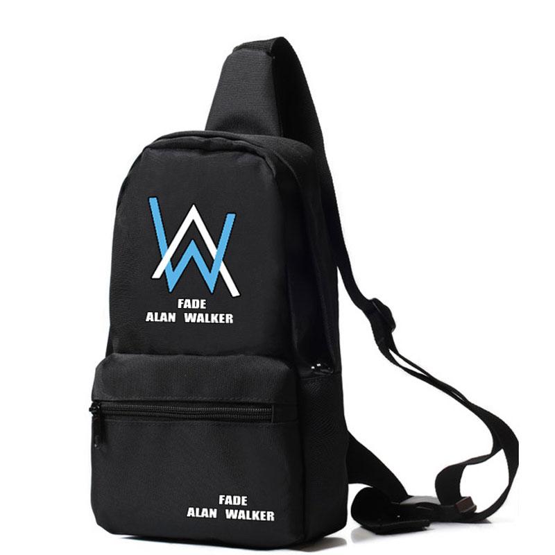 New Alan Walker Handbags Teenagers Boys Alone Chest Bags Casual Oxford Marshmello Hand bag