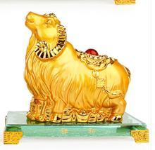 Змея лошадь Овцы обезьяна, курица собака свинья мебель Золото большой открытый новоселье Фортуна Золотой домашние украшения в форме животных