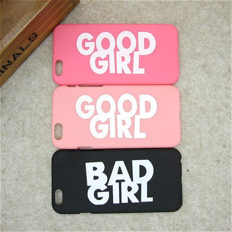 Модный бренд Good Girl Bad Girl матовая Пластик жесткий Чехлы для мангала для Apple IPhone 5 5S SE Роскошные ультра тонкий чехол для телефона В виде ракушки ...