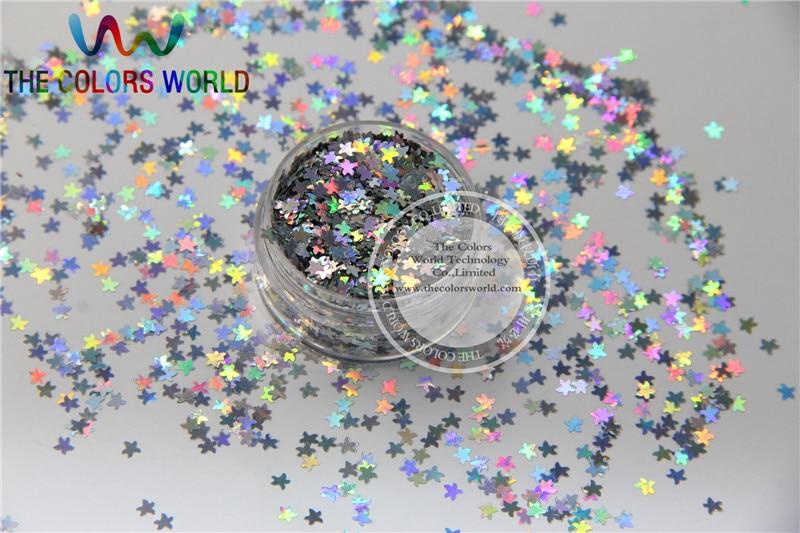 lsf 0 starfish molda tamanho 3mm solvente resistente glitter holografico prata cor paillette para nail art