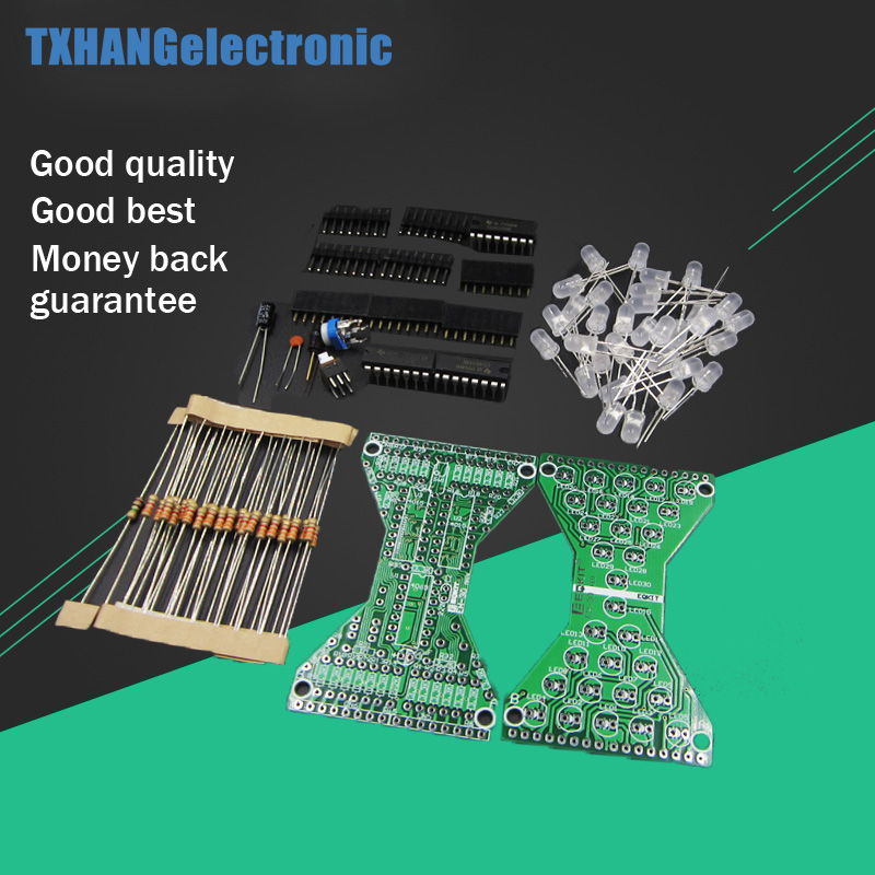 Dc 5 V Elektronische Sanduhr Diy Kit Lustige Elektrische Produktion Kits Mit Led Lampen Z07 Drop Schiff Mp3-player & Verstärker-zubehör