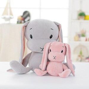 Image 3 - מזל ילד יום ראשון 65/50/25cm חמוד ארנב בפלאש צעצוע ממולא רך ארנב בובת תינוק ילדים צעצועים בעלי החיים צעצוע יום הולדת מתנה לחג המולד
