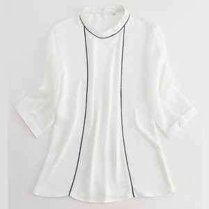 Image 5 - High Quality Fashion Summer Women Shirt 2019 New Half Sleeve Loose Chiffon Blouse OL Temperament Office Ladies Plus Size Tops