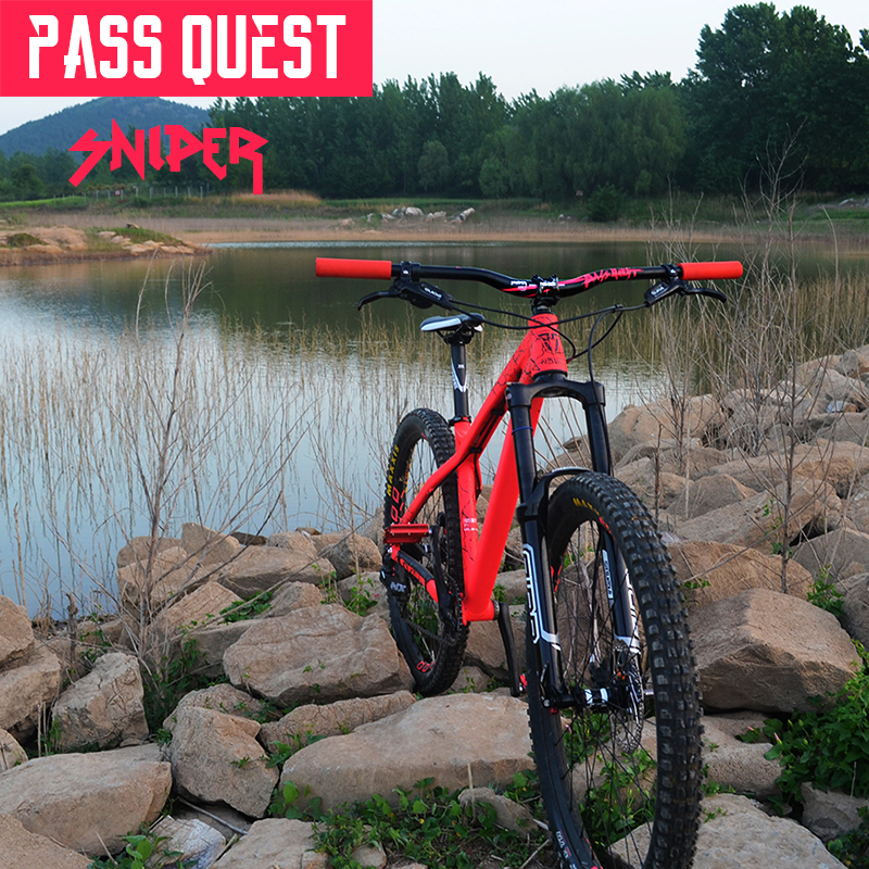 PASS QUEST SNIPER Mountain Bike Handlebar 750MM *20MM Downhill bicycle Swallow shaped Handlebar Bicycle handlebar accessories mountain bike carbon handlebar road bike handlebar bicycle handlebar bicycle handlebar bicycle accessories