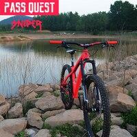 Pass quest sniper mountain bike guiador 720mm/780mm * 20mm downhill guiador da bicicleta acessórios