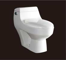 2016 new style water closet one piece S trap ceramic toilets with PVC Adaptor and soft