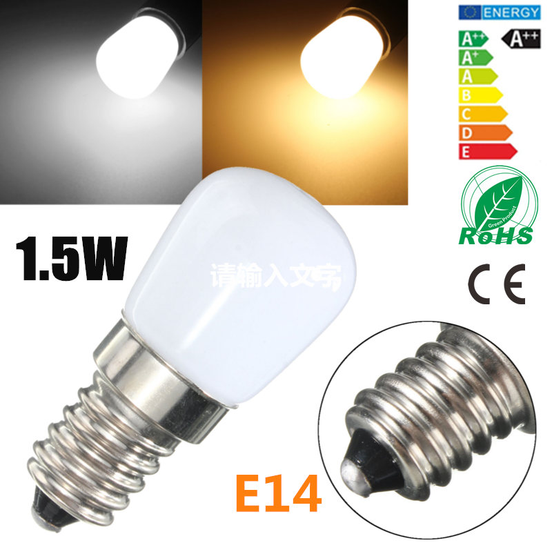 Mini LED Light Bulb E14 1.5W SES Fridge Freezer LED SMD Lamp Spotlight Bulbs Chandeliers Lighting 80-90 LM AC220V high tmperature 300 degree t25 oven cooker light bulbs 240v ses e14 home kitchen