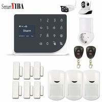 SmartYIBA WiFi GSM GPRS SMS Wireless Home Security Alarm System IOS Android APP Remote Control Smart