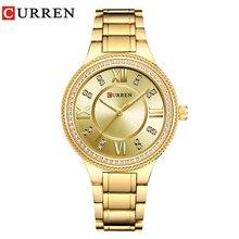 Curren 9004 Топ Элитный бренд Для женщин кварцевые часы Кристалл Дизайн женские наручные часы Relogio feminino