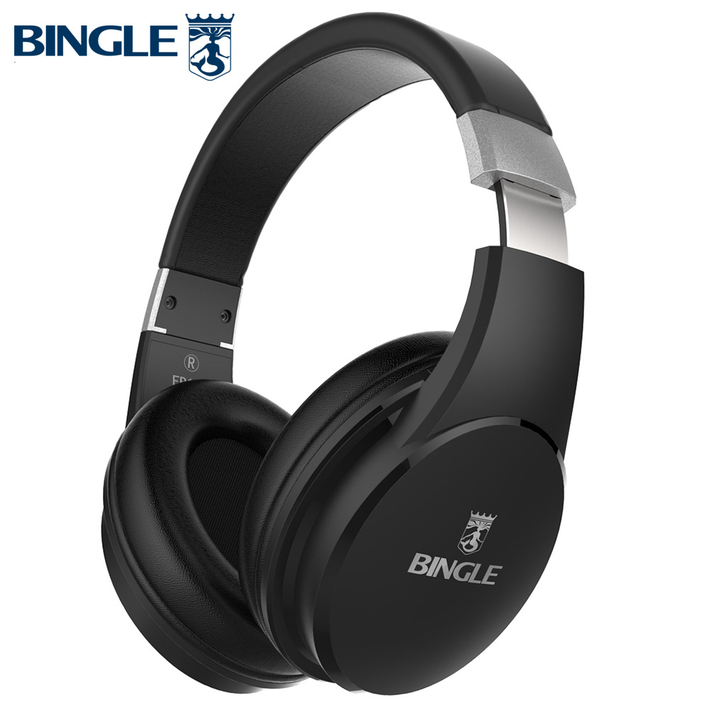 Bingle Fb110 Tiefe Bass 3D Surround Stereo Overear BT Kopf Telefon Drahtlose <font><b>Bluetooth</b></font> Headset Kopfhörer Mit Mikrofon 3,5 MM Audio image