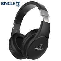 Bingle fb110 graves profundos 3d surround estéreo overear bt cabeça do telefone sem fio fone de ouvido bluetooth com microfone 3.5mm áudio