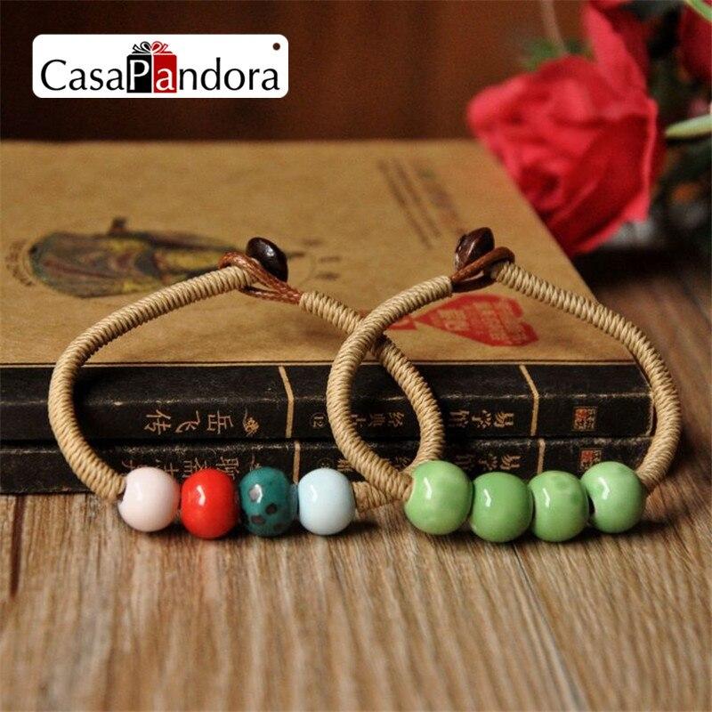 Zurio Jewelry Ceramic Mix Colour Women's Bracelets Handmade Accessories Honey Lovers Gift Hot Sale New Design