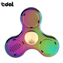 Led Light Bluetooth Speaker Music Fidget Finger Toys Metal EDC Colorful Tri For Kids Autism ADHD Toy