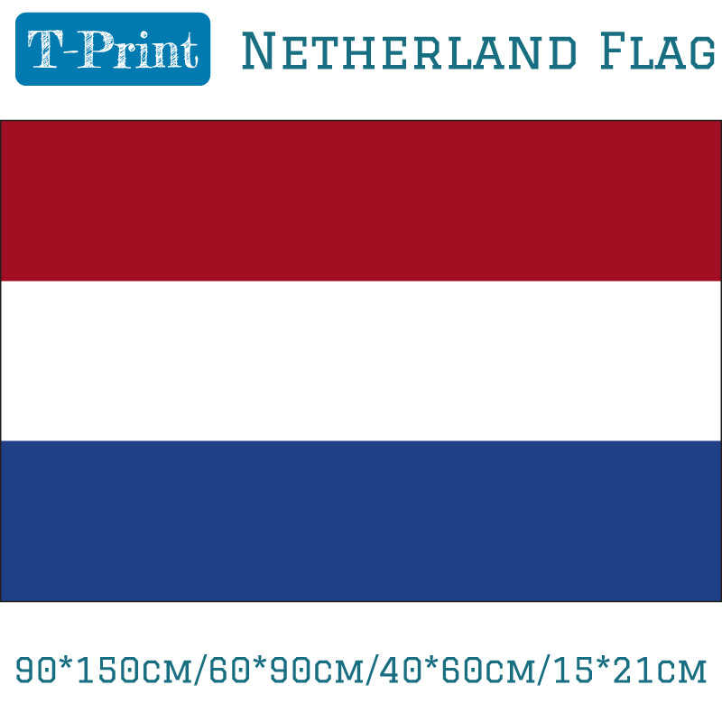 Netherland Flags and Banners 3x5ft 90*150cm/60*90cm/40*60cm Polyester Dutch National Banner Indoor Outdoor Home Decor
