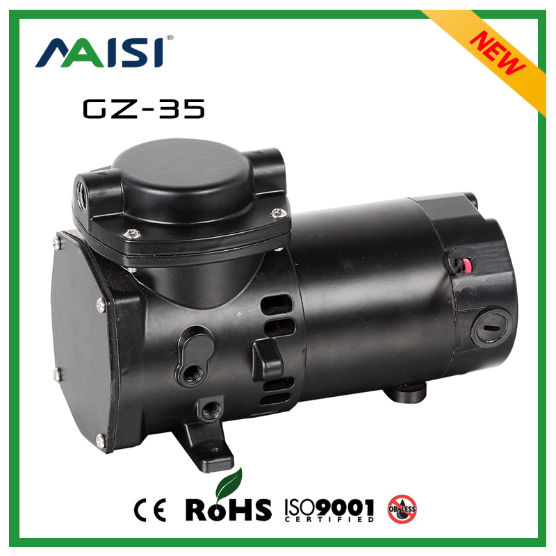 (GZ-35)24V (DC) Oilless Vacuum Air Pump 35L/MIN 100W high pressure Mini Diaphragm Vacuum Pump Electric carabina de pressao l air de rien