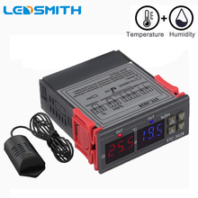 Dual Digital Thermostat Temperature Humidity Control STC-3028 Thermometer Hygrometer Controller AC 110V 220V DC 12V 24V 10A digital thermostat 12v 24v 110v 220v temperature controller temperature control switch 19 99c output 10a 220v ac