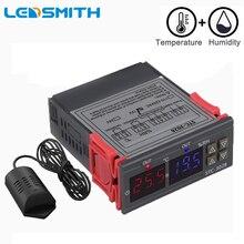 כפול דיגיטלי תרמוסטט טמפרטורת לחות בקרת STC 3028 מדחום מדדי לחות בקר AC 110V 220V DC 12V 24V 10A