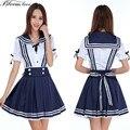 Alta calidad cosplay lolita mezclado algodón uniformes escolares coreano desgaste de la escuela uniforme escolar japonés de anime girl costume dress