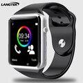 LANGTEK Bluetooth Smart Watch A3 Спорт Наручные Часы Для Android Телефон С Камерой Поддержка SIM TF Карта Умный Браслет