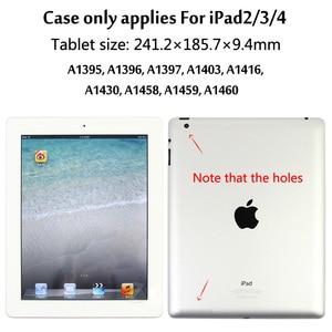 Image 2 - ل iPad2/3/4 الفاخرة سماعة لاسلكية تعمل بالبلوتوث 3.0 لوحة المفاتيح احتياطية البناء في بطارية حالة الغطاء مع موقف لباد 2 3 4
