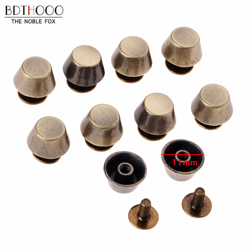 50pcs Feet Bag Bottom Studs Rivets For Leather Buttons Screw For Shoes Bag Clothes Hardware Belt Accessories For Bags Feet Screw Luggage & Bags