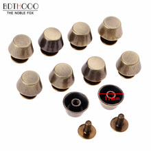 50pcs Feet Bag Bottom Studs Rivets for Leather Buttons Screw for Shoes Bag Clothes Hardware Belt Accessories for Bags Feet Screw(China)