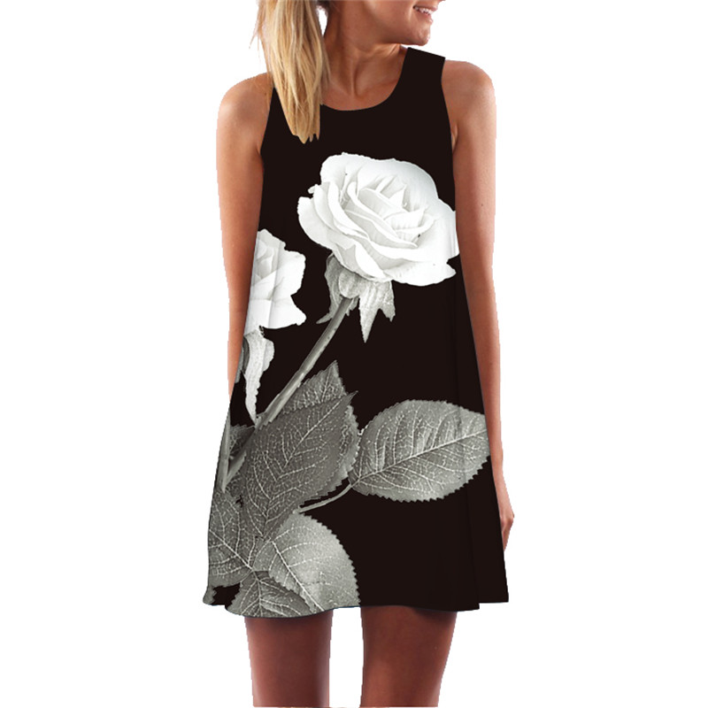 MEIBONA Retro <font><b>Women</b></font> Mini <font><b>Dress</b></font> Summer Floral Print <font><b>Sexy</b></font> Beach <font><b>Dress</b></font> Sleeveless Loose Party Office <font><b>Dress</b></font> Sukienki <font><b>Plus</b></font> <font><b>Size</b></font> image