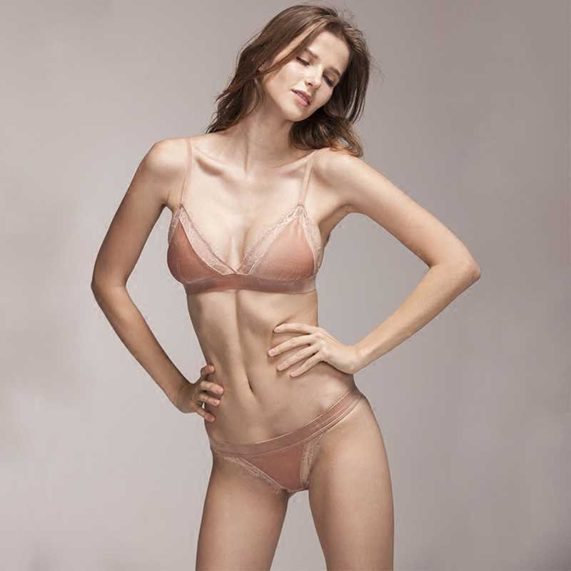 e4010a6f85 ... Summer Sexy Lace Bralette Set Tranaparent Invisible Unlined Sheer Bra  Set Women Underwear Set Soutien Gorge ...