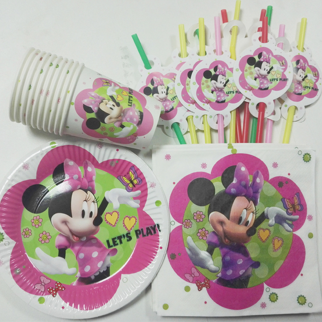 50pc/lot Luxury Kids Minnie Mouse Decoration Birthday Party supplies straw cup plate Set Baby & Aliexpress.com : Buy 50pc/lot Luxury Kids Minnie Mouse Decoration ...