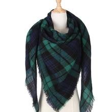 Top quality Winter Scarf Triangle Plaid Scarf Designer Unisex Acrylic Cashmere Basic Shawls Women's Scarves hot sale