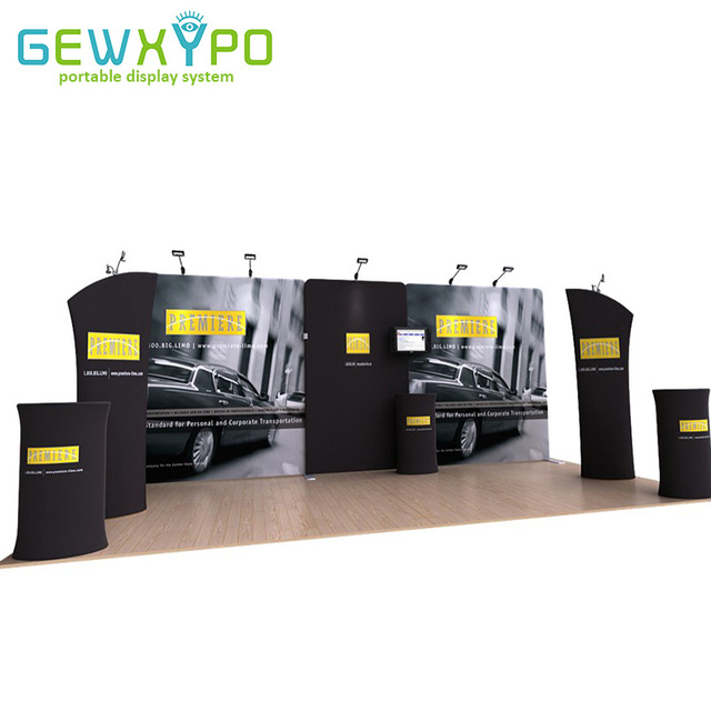 Exhibition Booth Number : M m exhibition booth portable stretch fabric banner display wall