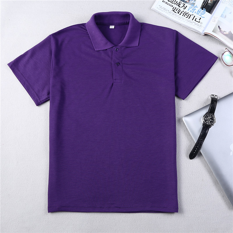 2018 men   polo   shirts solid color Tee Shirt Tops short Sleeve Quick Dry summer style classic tops Blue Black   Polos   hombre jerseys