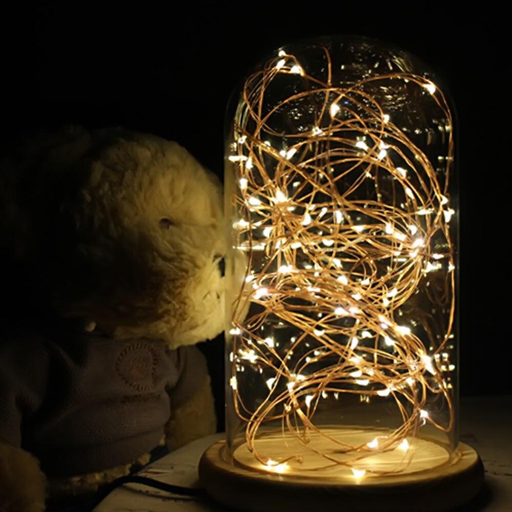 Modern LED Line Light Table Lamp Wood Glass Desk Lamp Transparent ... for Diy Sleep Lamp  570bof