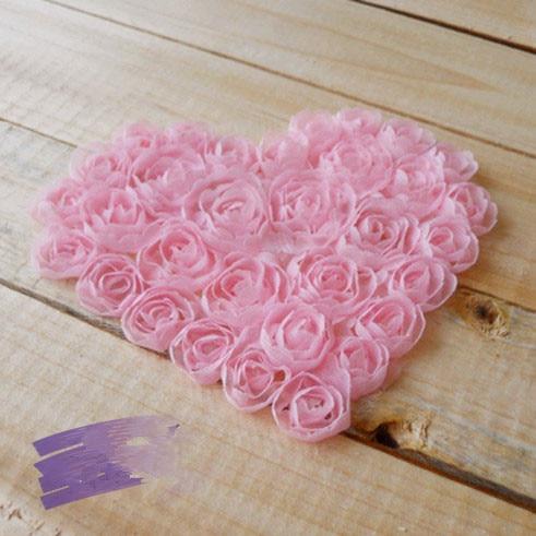freies verschiffen herzform 3d rose chiffon blume stoff. Black Bedroom Furniture Sets. Home Design Ideas