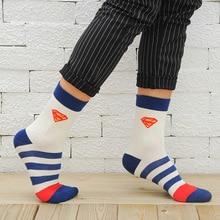 1Pair 5Colors Fashion USA Cartoon Brand Mens Sock Superheroes Funny Cotton Socks Free Shipping