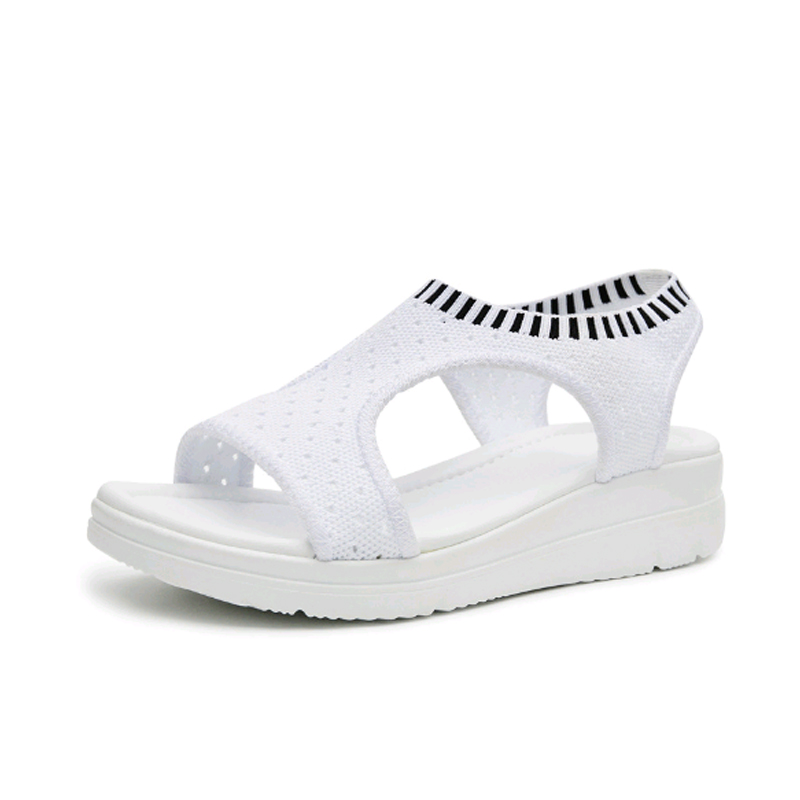 2018 zomersandalen sandalen schoenen plat wild ademend comfortabele - Damesschoenen