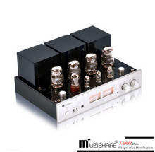 Muzishare X7 Push Pull Vacuüm Buis Versterker KT88 (6550) geïntegreerde Amps Ultra Lineaire/Triode Modus Mm Phono In, Rc Controller