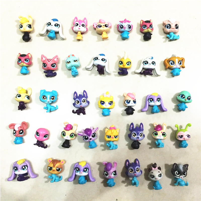 20Pcs/lot LPS Toy bag Little Pet Action Figures Toys Littlest Animal Cute Cat Dog patrulla canina Action Figures Kids toys long cable winder cute cartoon animal headphone earphone organizer wire holder action toy figures set