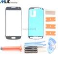 Серый Сенсорный Экран Внешний Стекло Передней Линзы для Samsung Galaxy S4 mini GT-i9195 i9190 Сенсорная панель Дигитайзер Ремонтные Комплекты и УФ Клея