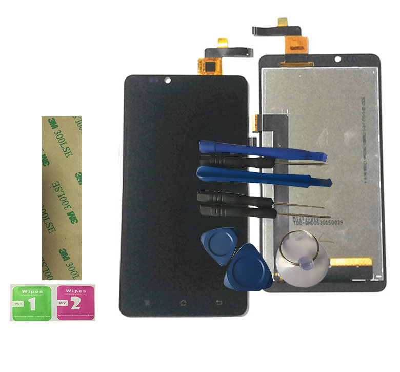 RYKKZ For Highscreen Omega Prime XL LCD Display With Touch Screen Digitizer Assembly Replacement With Tools