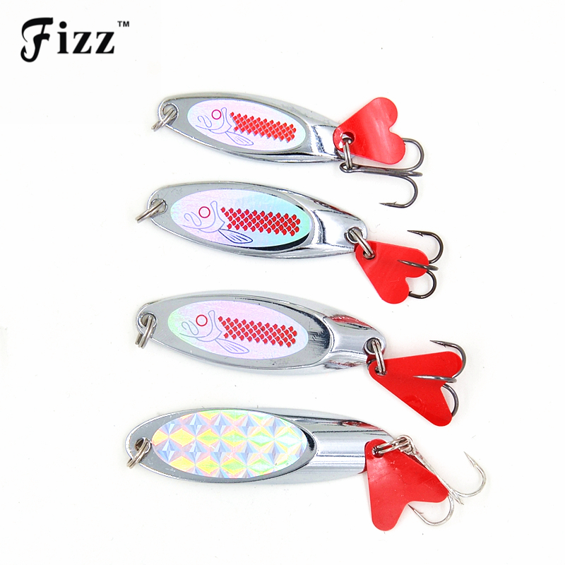 Upgraded Spoon Fishing Lure 10/14/21/28g Spoon Lures with Red Tail Treble Hook Metal Lure for Fishing Hard Bait Fly Fishing