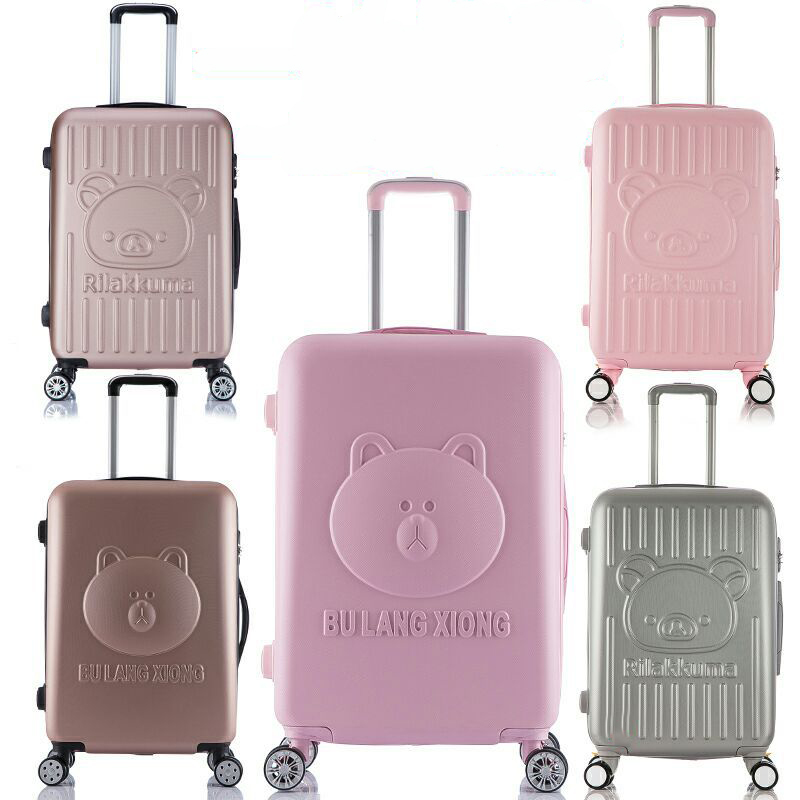 Lovely 14inch Cosmetic bag Children Women 20 24 inches Girl Students Trolley case Travel Luggage Woman Rolling Suitcase