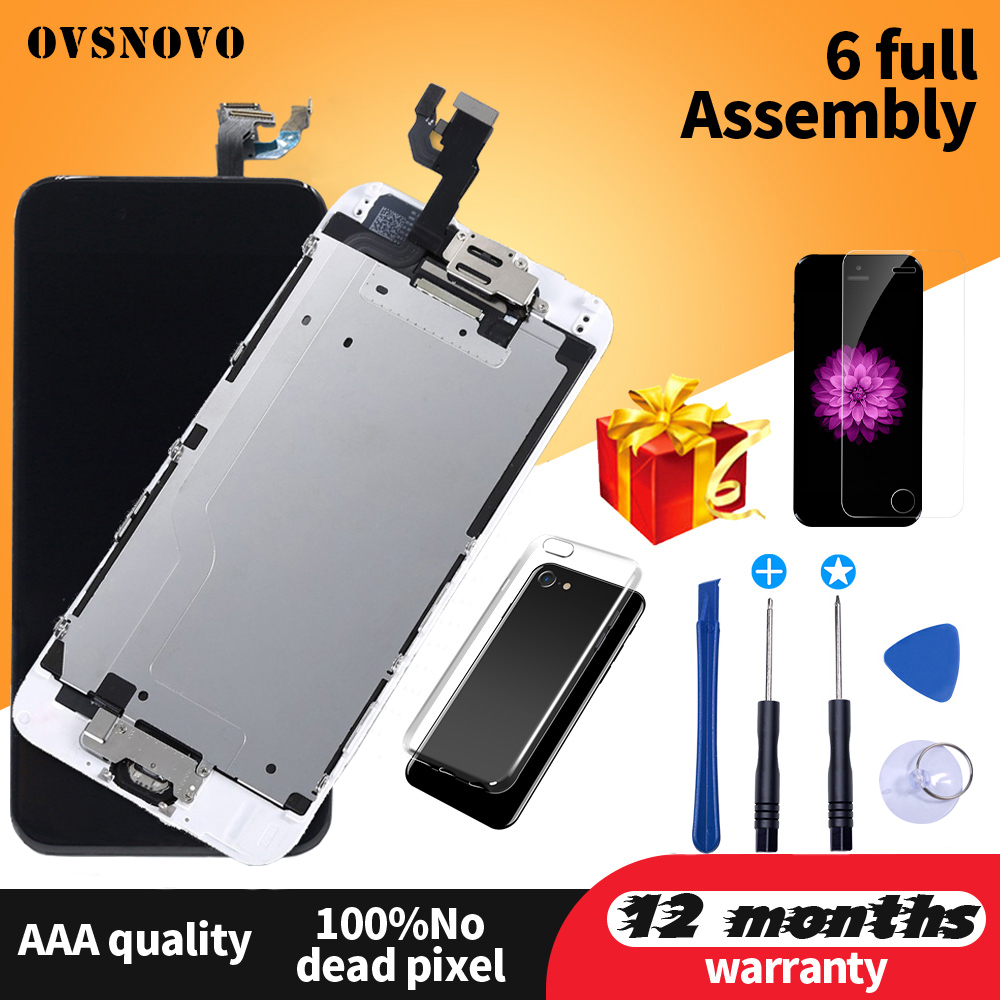 Complete Full Set pantalla For iPhone 6 LCD Display Touch Screen Assembly Replacement For iPhone 5s 6s 7 LCD+Front Camera image