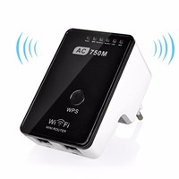 750Mbs Dual Band Mini Wireless Wifi Router Repeater Extender Booster 802.11 AC 2.4G 5G Networking WPS AP WI fi Antenna