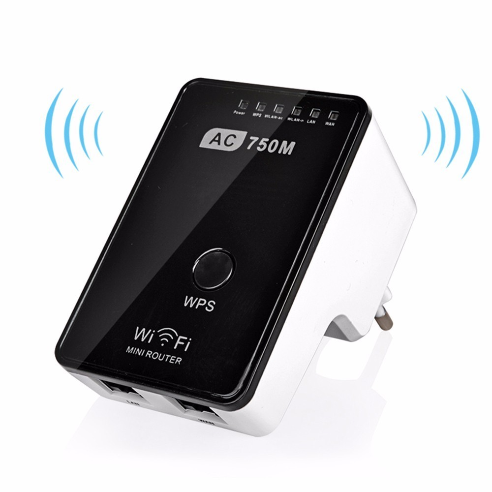 Original Wifi 750Mbps Mini Router Wireless Repeater Dual-Band 2.4/5GHz Signal Amplifier Booster 802.11 ac/b/g/n
