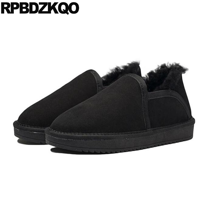 2017 Ankle Fur Winter Shoes Booties Luxury Mens Boots Warm Black Lined Suede Sheepskin Real Male High Top Fashion Short цена 2017