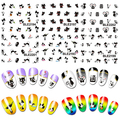 Hot2016 New Arrival11 Styles Nail Art Stickers Black Cat Kitten UV Gel Polish Tips DIY Manicure Decals  7D88