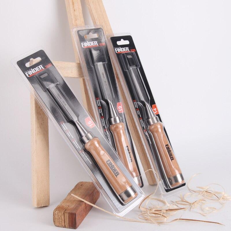 9 шт./компл. 6 25 мм резьба по дереву инструменты плотника плоский долото для дерева набор инструментов профессиональная резьба по дереву Ножи ручной инструмент - 4
